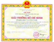 1.Giải thưởng Hồ Chí Minh về Khoa học Công nghệ tập đoàn Polyco