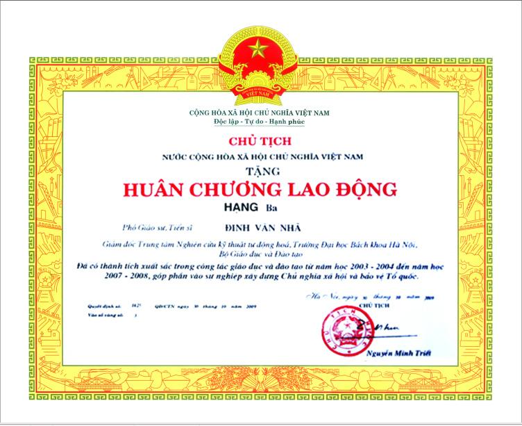 5. Huân chương lao động hạng ba Đinh Văn Nhã tập đoàn Polyco