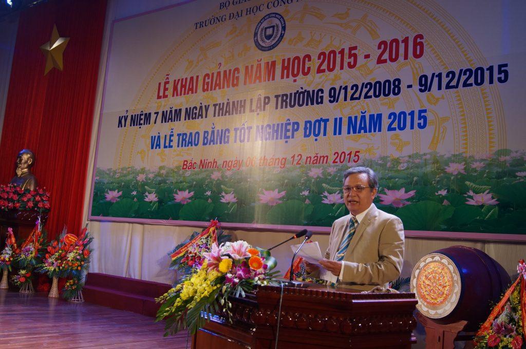 GS. TS Đinh Văn Thuận - Hiệu trưởng Trường ĐH Công nghệ Đông Á