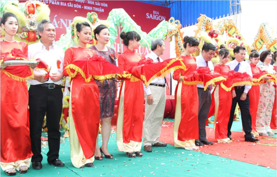 Khánh thành Nhà máy Bia Sài Gòn - Ninh Thuận