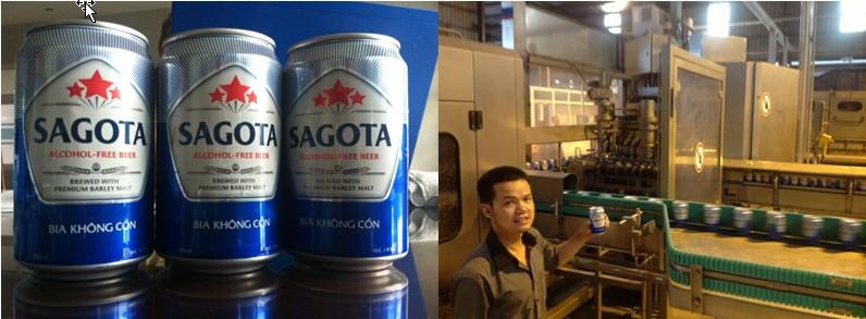 Sản xuất bia không cồn đầu tiên tại Việt Nam Sagota