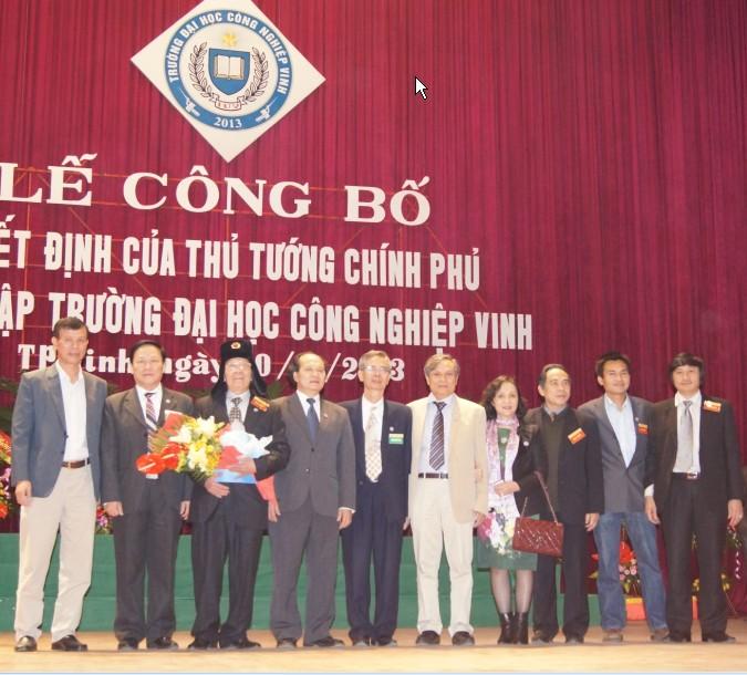 Trường Đại học Công nghiệp Vinh được thành lập tại Nghệ An 1