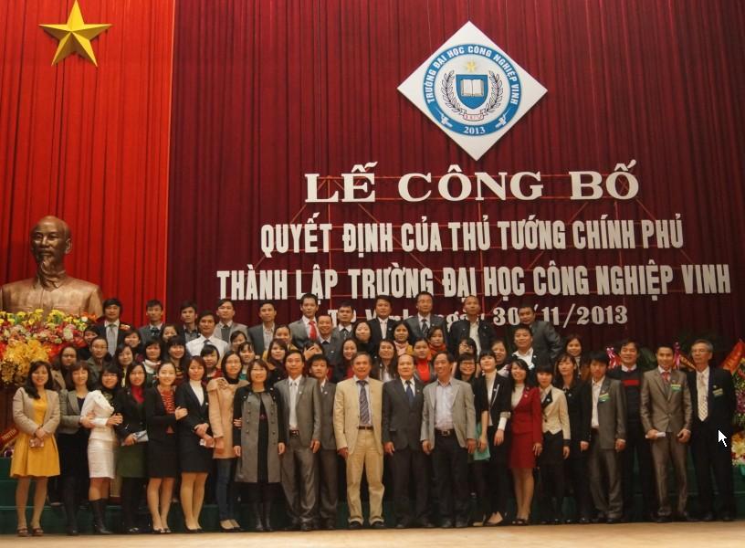 Trường Đại học Công nghiệp Vinh được thành lập tại Nghệ An 3